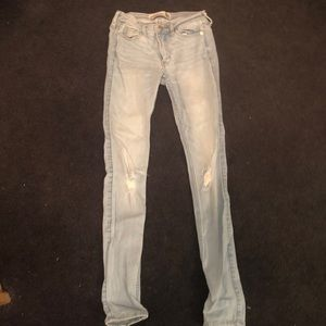 Abercrombie & Fitch Super Skinny 00R ripped jeans